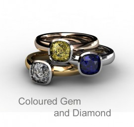 Coloured Gem and Diamond Engagement Rings