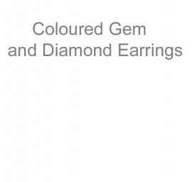 Coloured Gem and Diamond Earrings