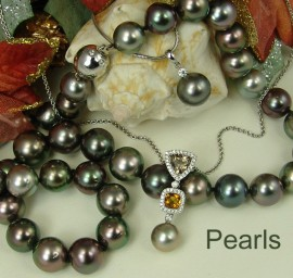 Cultured Pearl, Tahitian, & Fresh Water Pearl Necklaces and Pendants