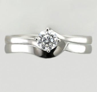 This Edward James Shaped Wedding Band Design Was Created Specifically For This Particular Twist