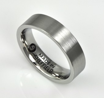 Sheffield Stainless Steel Wedding Rings
